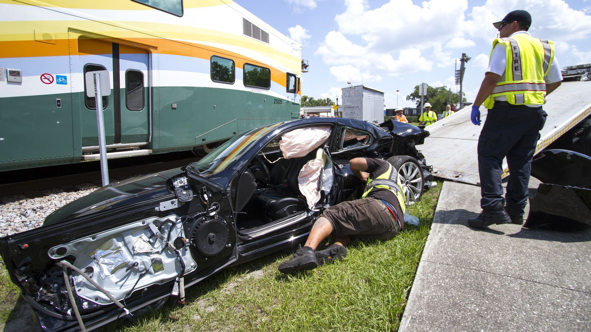 SunRail hits car in Maitland, woman collapsed in shock - Orlando