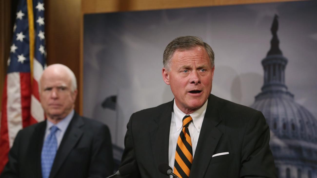Sens. John McCain (R-Ariz.), left, and Richard Burr (R-N.C.).