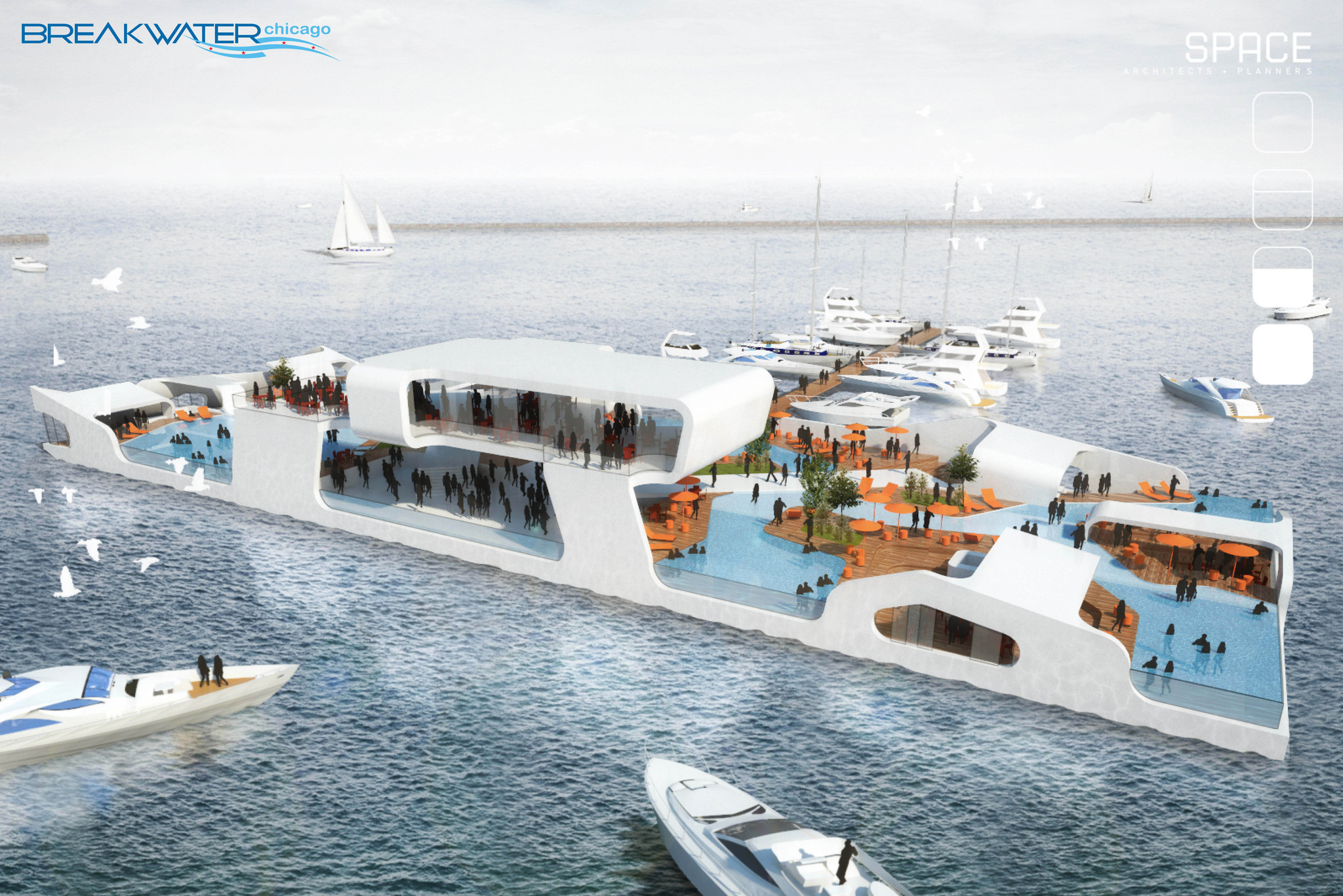Floating Island Proposed For Chicago Shoreline Chicago