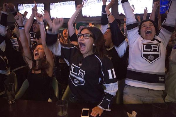 Los Angeles Kings victory celebration