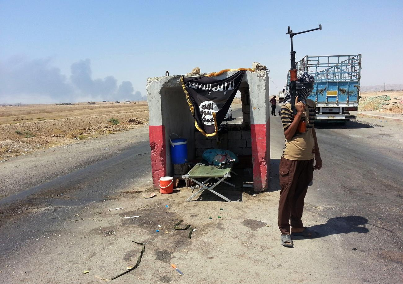 An Islamic State fighter in Iraq in June.