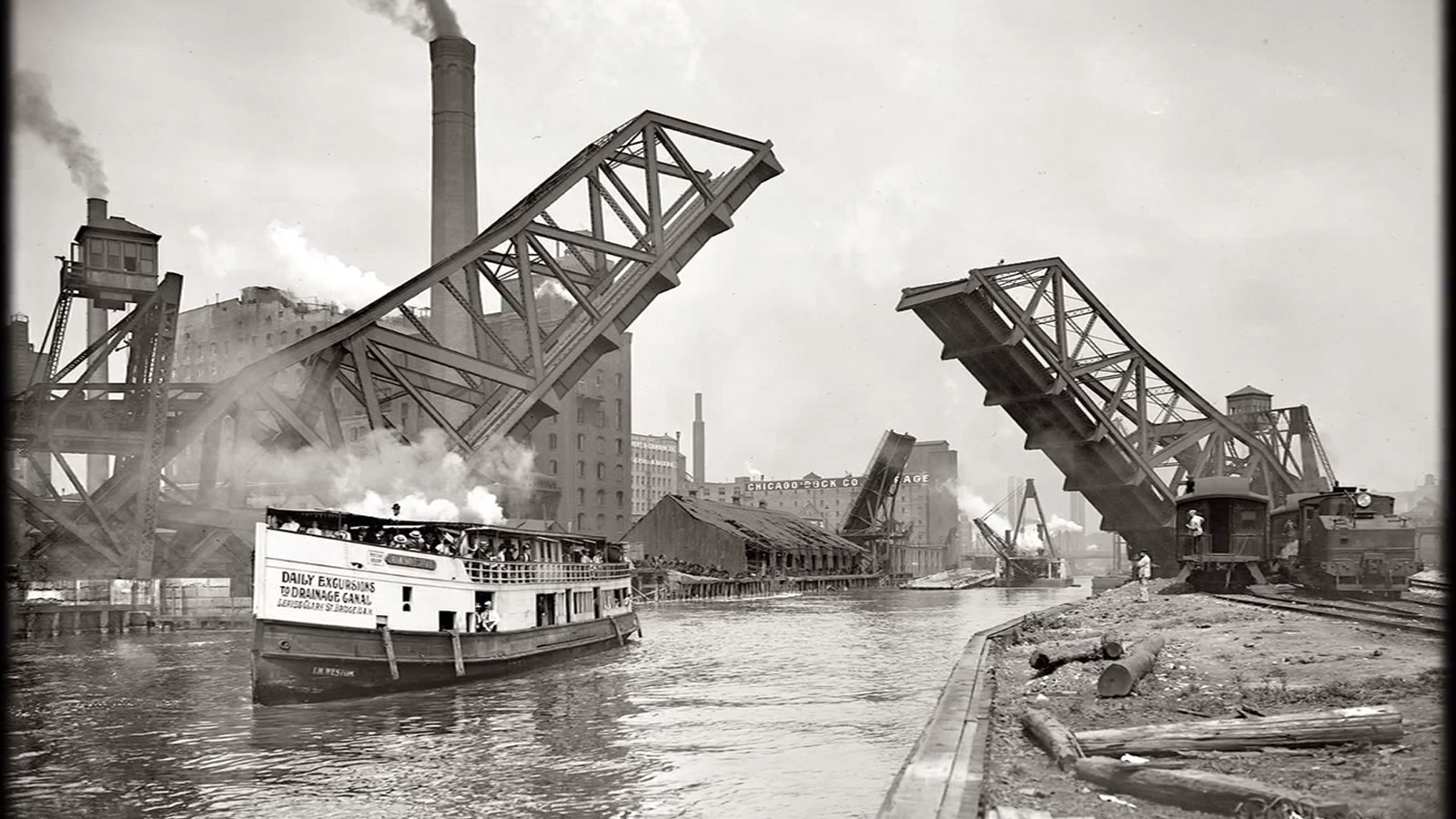 Reversing The Chicago River 1900 Chicago Tribune