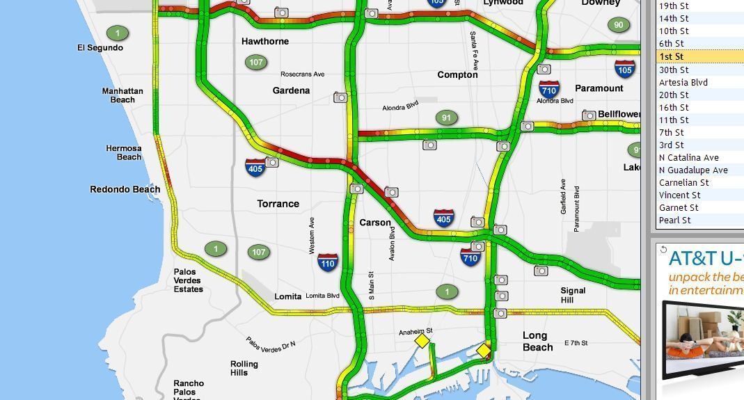 One person killed in three-vehicle crash on 405 Freeway in
