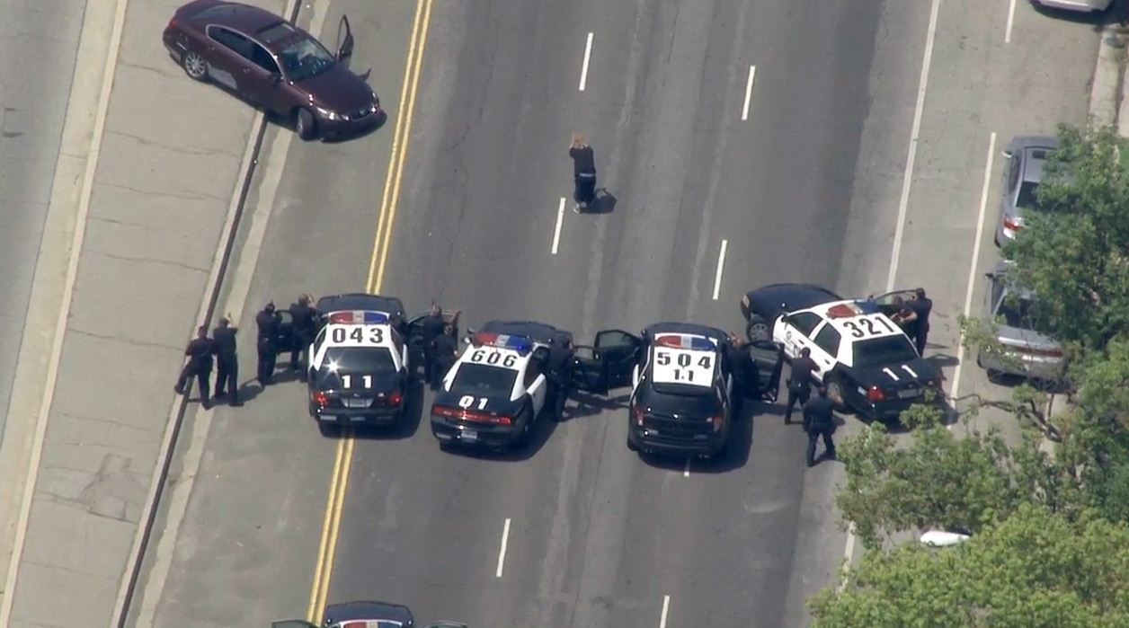 Police chase through Highland Park ends in driver's arrest - Los