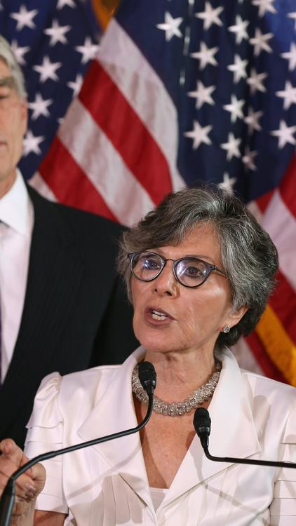 Sen. Barbara Boxer at a news conference on Capitol Hill. (Mark Wilson / Getty Images)