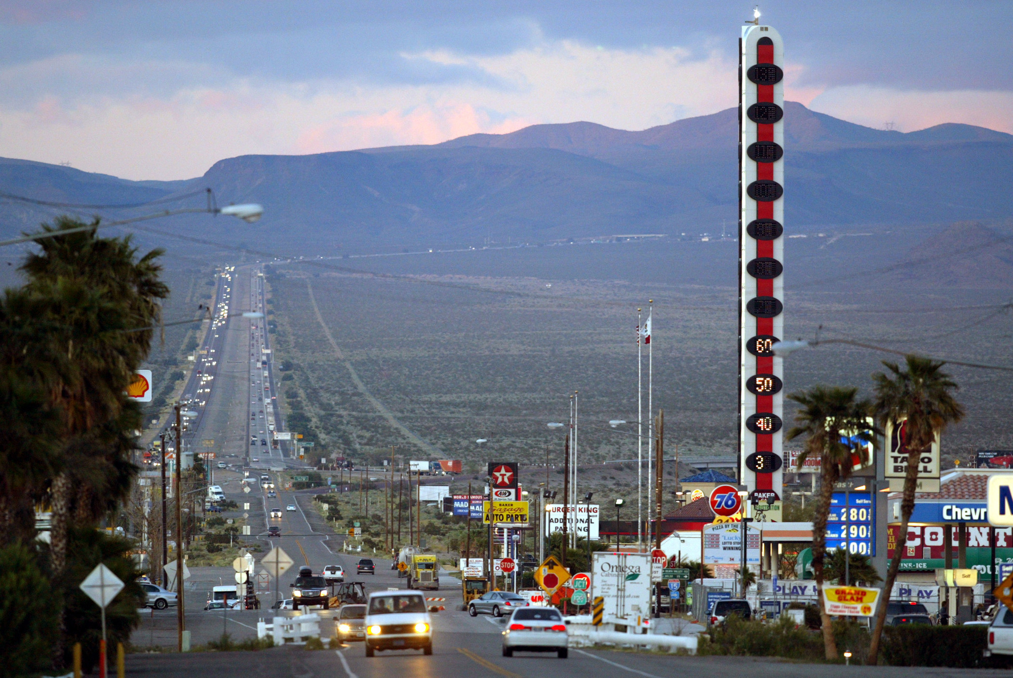 World S Tallest Thermometer In Baker Shines Bright Again