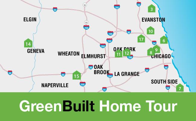 Oak Park Chicago Map.Green Built Home Tour Map Chicago Tribune
