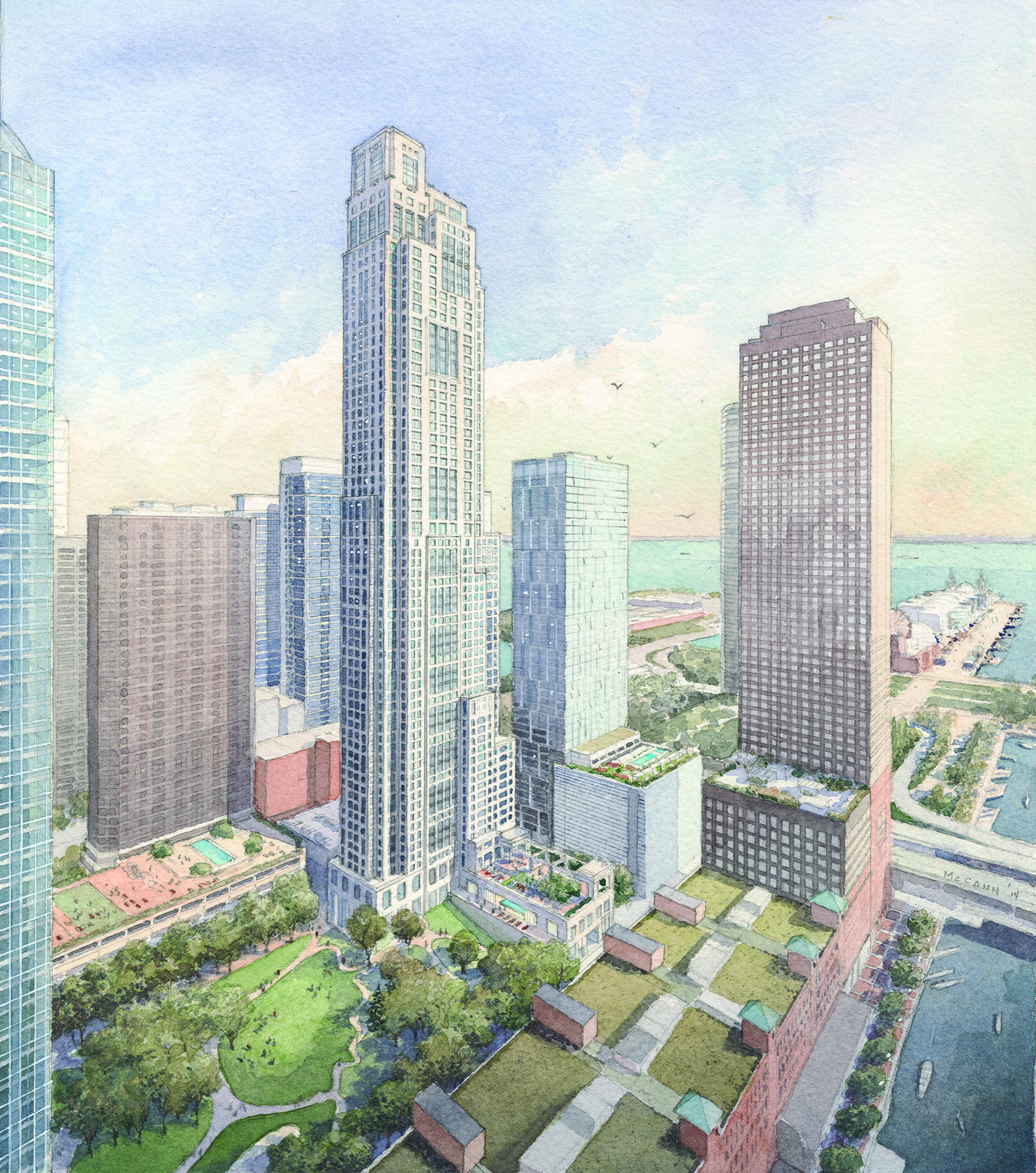 Large Apartment-condo Building Planned For Streeterville