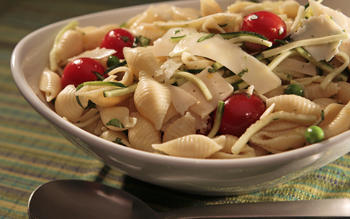 Wolfe's Market's shell pasta salad with lemon zest