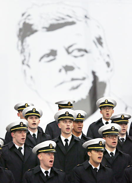 naval academy glee club performs at jfk anniversary ceremony