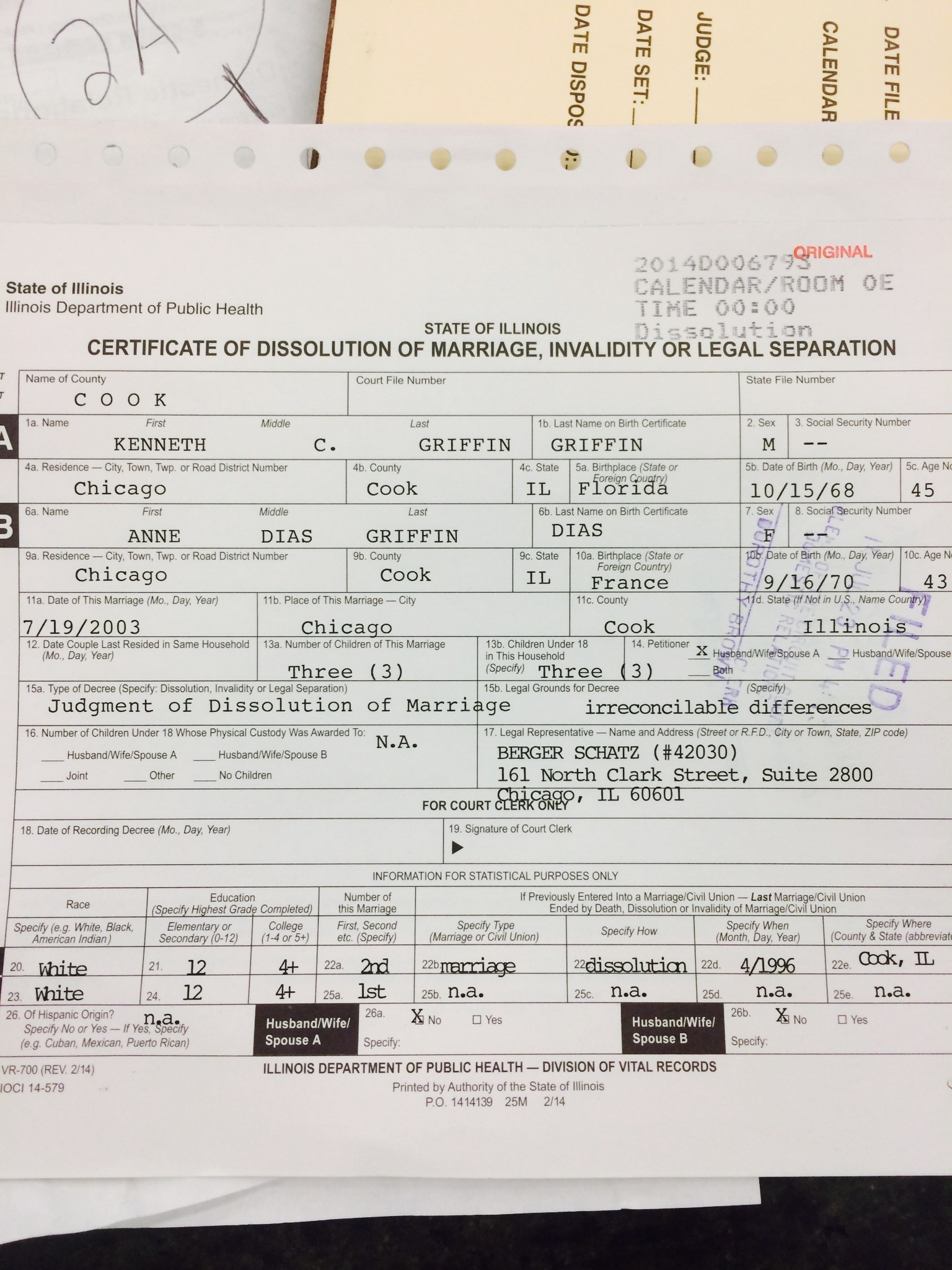 Certificate Of Dissolution Carroll County Times