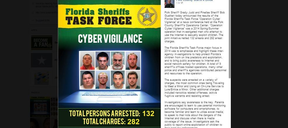 Sex-sting snares 132 who hunted online for kids to rape, deputies