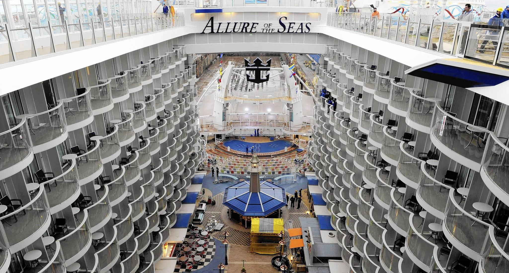 The interior of cruise ship MS Allure of the Seas, the world's largest ...