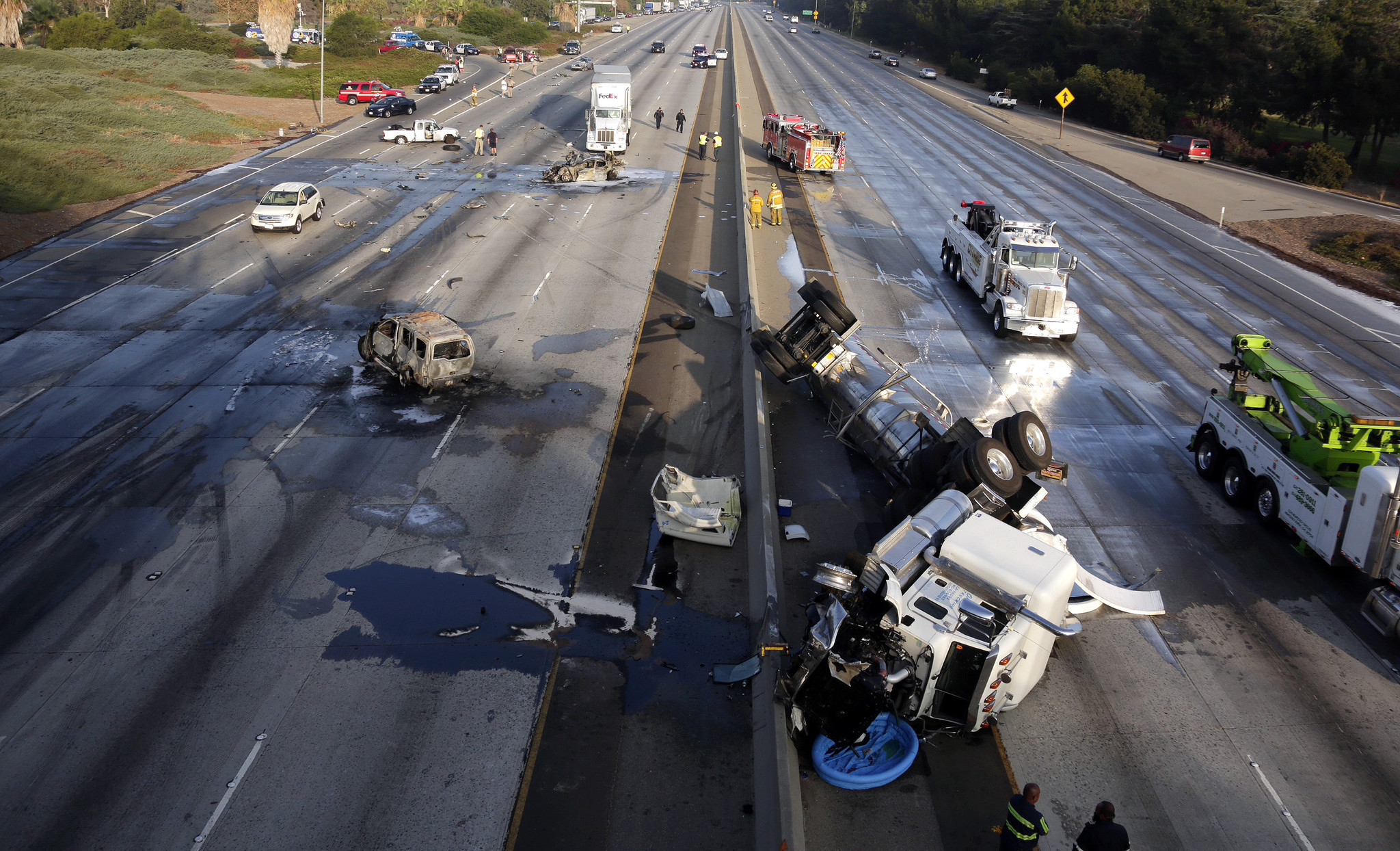 60 Freeway Fully Reopens After Fatal Multi Vehicle Crash