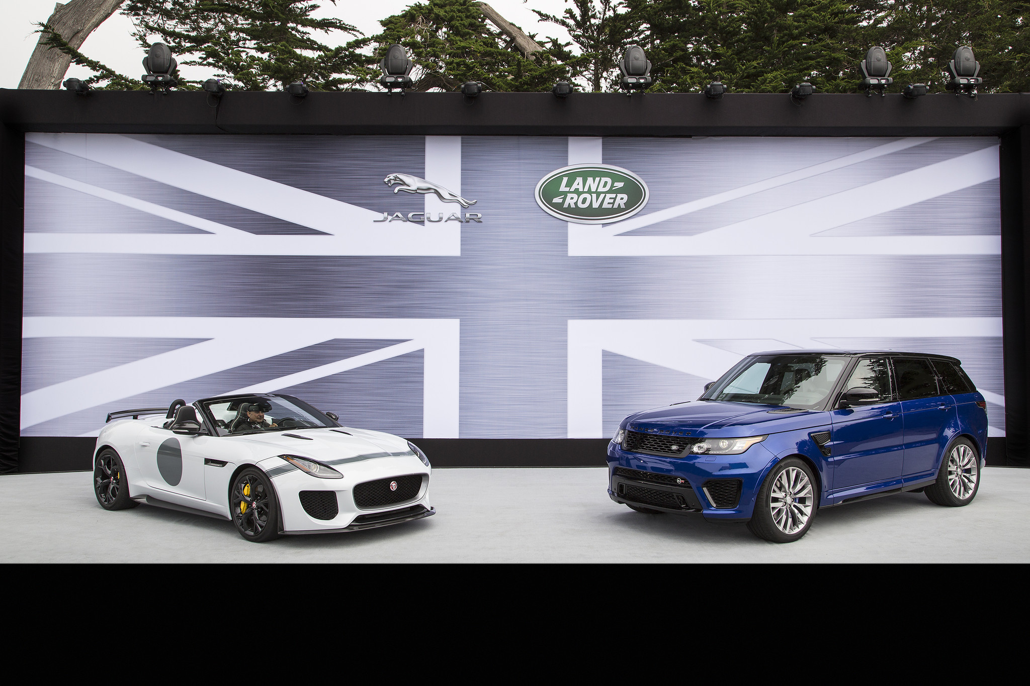 2014 pebble beach jaguar land rover launches speed seeking svo division la times. Black Bedroom Furniture Sets. Home Design Ideas