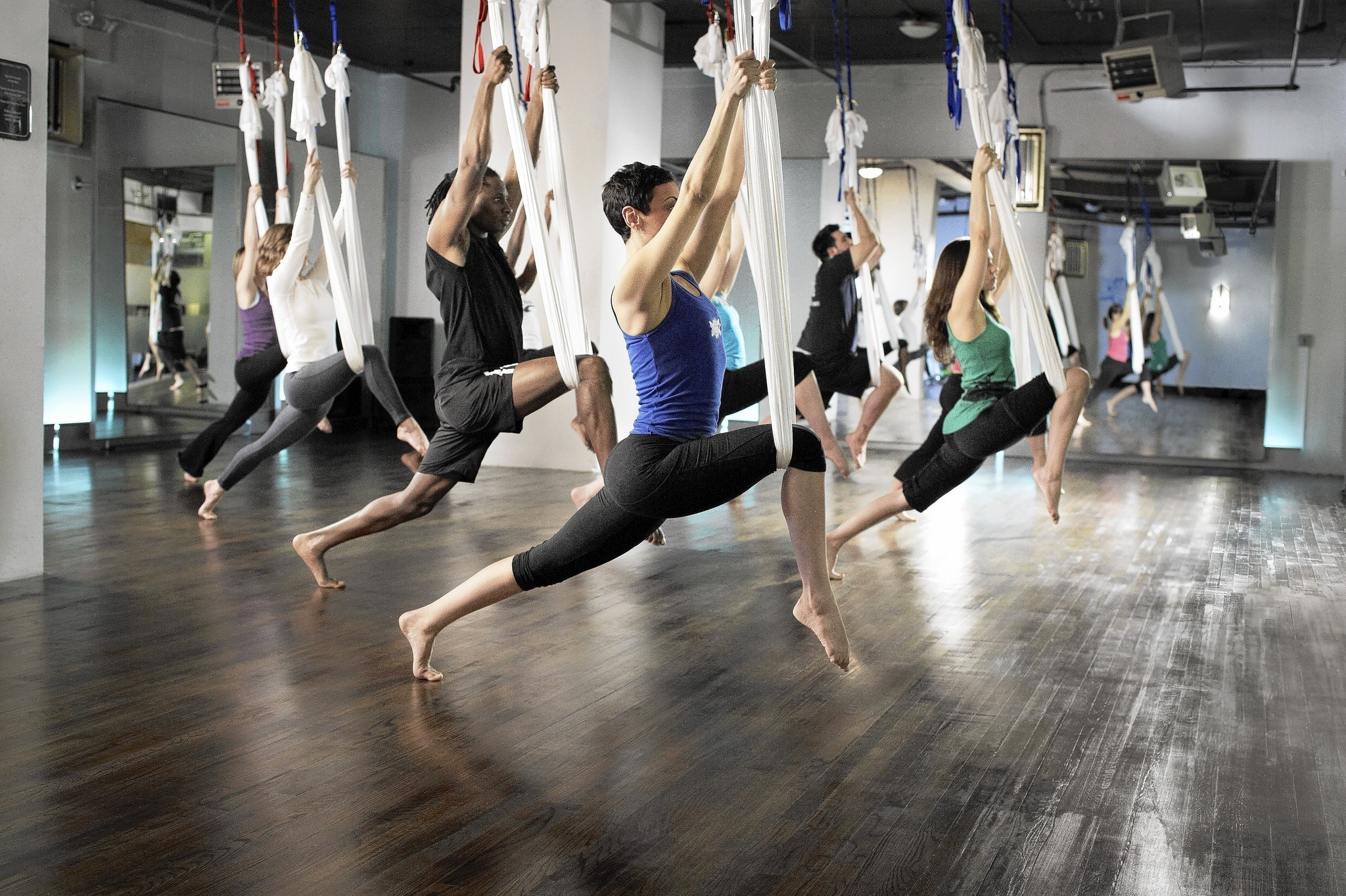 Air yoga: Mind and body soar to new heights with air yoga