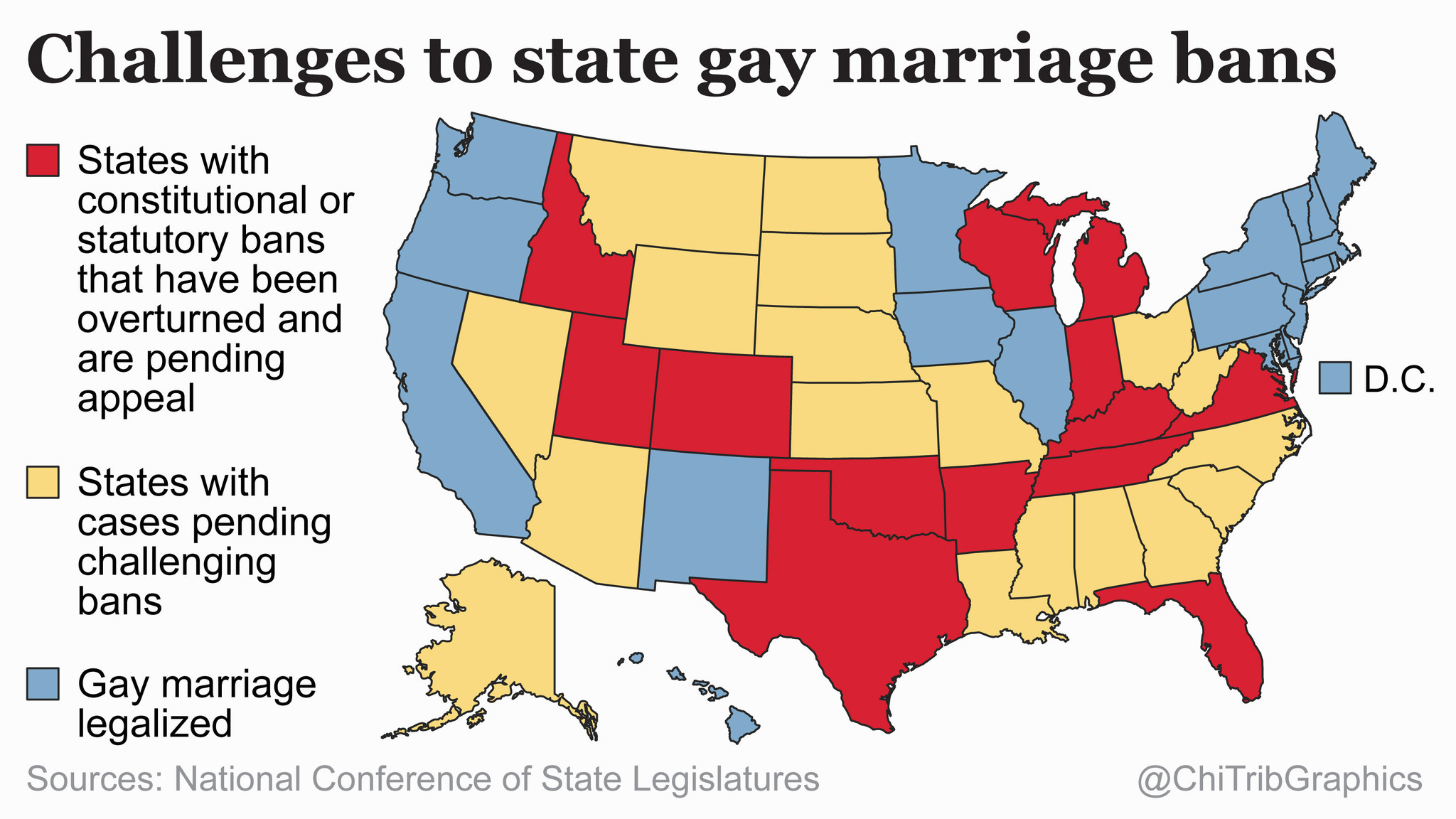 Challenges to state marriage bans (map) - Chicago Tribune on addiction map, birth control map, 9gag map, family interaction map, life calling map, modernism map, new moon map, inbreeding map, food issues map, lawyers map, doctrine map, long trip map, metaphysical map, stages of life map, sovereignty map, numerology map, heredity map, love wins map, middle class map,