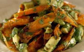 Huckleberry's roasted carrots with avocado