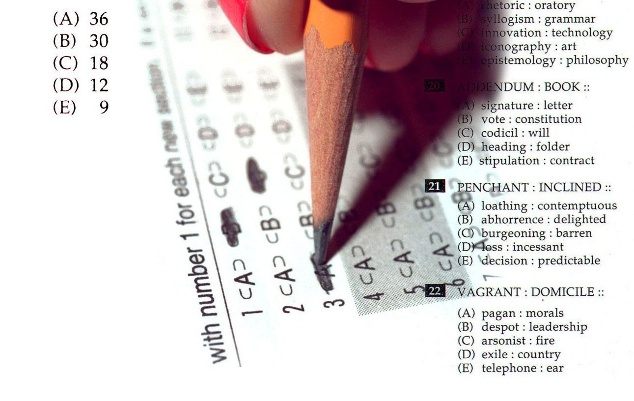 Examples: Subjects studied and tests taken - Orlando Sentinel