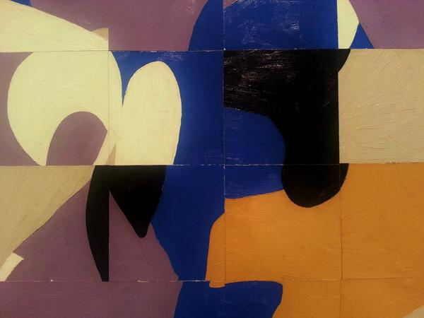 Detail view of Agnes by Frederick Hammersley at L.A. Louver