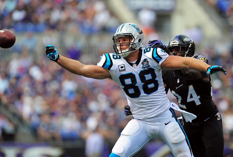 47e87a114 Fantasy start/sit for Week 5: 2 Panthers make great plays against Bears.  NFL: Carolina Panthers at Baltimore Ravens: Panthers tight end Greg Olsen