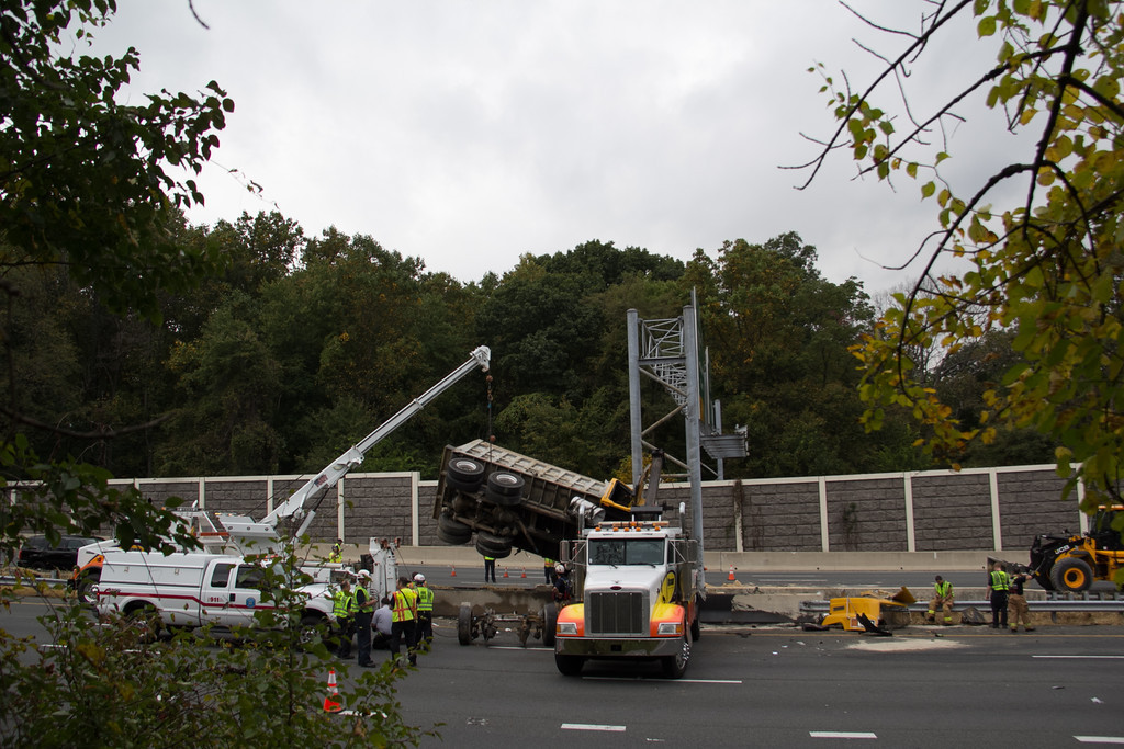 Dump truck rolls over on Route 29, causes heavy delays in