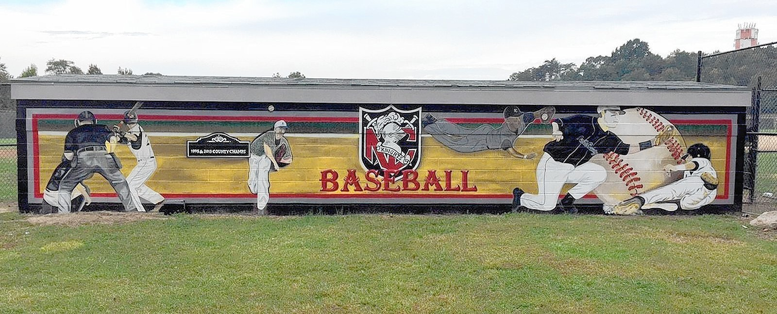 Parent At North County High Goes Big On Dugout Mural Maryland Gazette