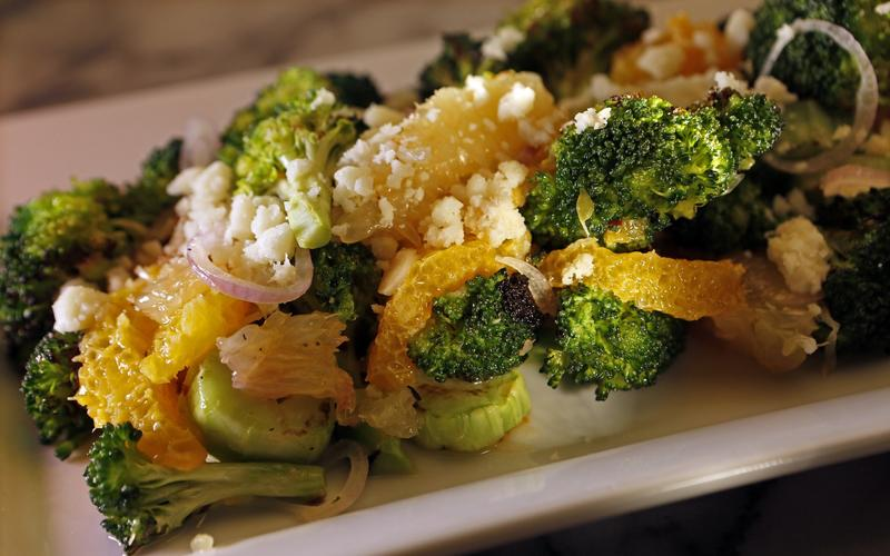 August's charred broccoli salad