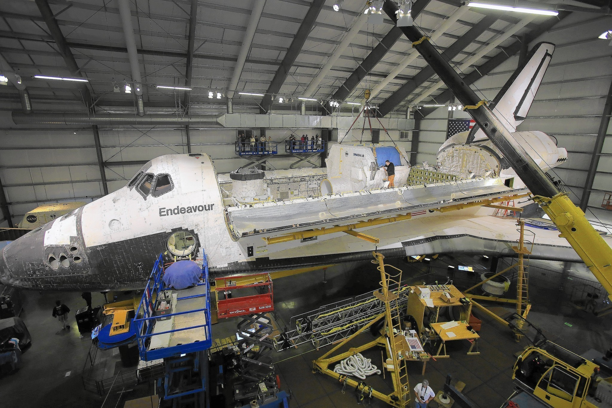 Space Shuttle Endeavour Inches Closer To Completion Of