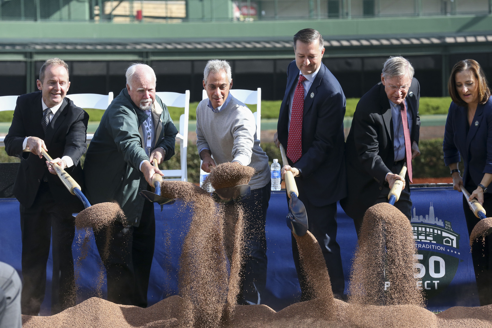 Emanuel and Ricketts at Wrigley groundbreaking - Chicago ...