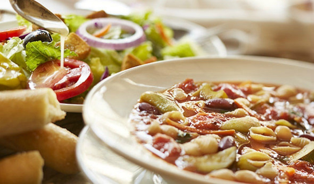 Menu For Olive Garden: Coupon: $5 For Unlimited Breadsticks, Soup And Salad At