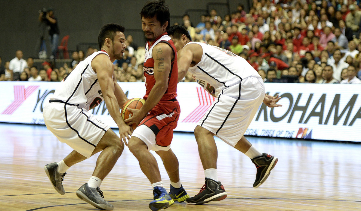 Manny Pacquiao makes pro basketball debut in Philippines - LA Times