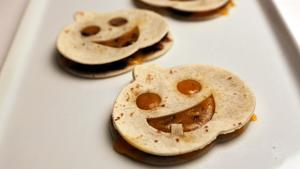 Pumpkin face quesadillas