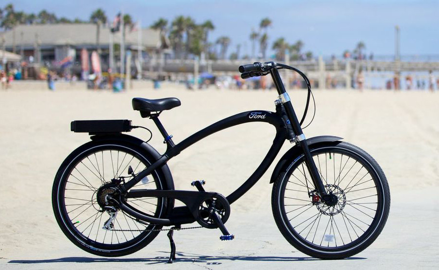 Ford Goes Zero Emissions With A Pedego Electric Bike La