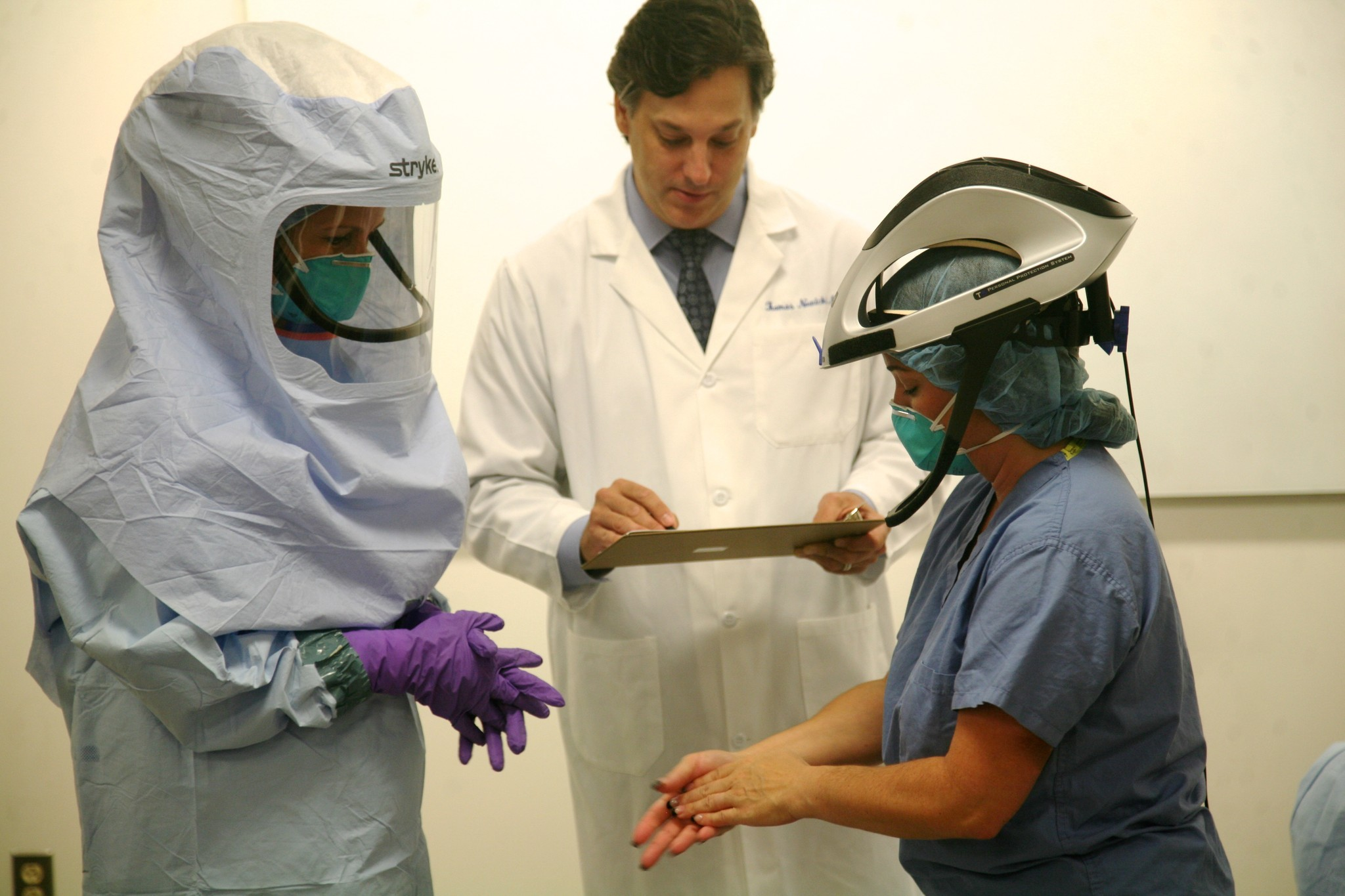 Watch: Hartford Hospital Staff Put On Ebola Protective Gear