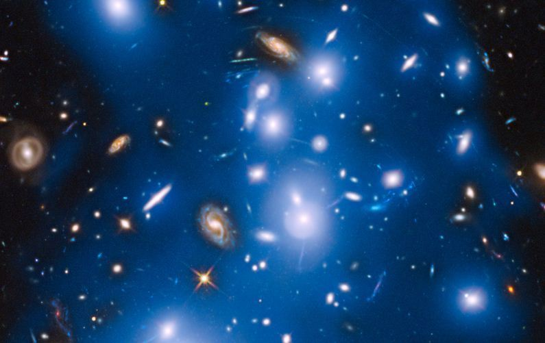 Hubble spies the ghostly remains of a galactic horror show ...