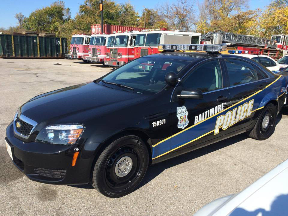 Baltimore Police Cars Shift From White To Black