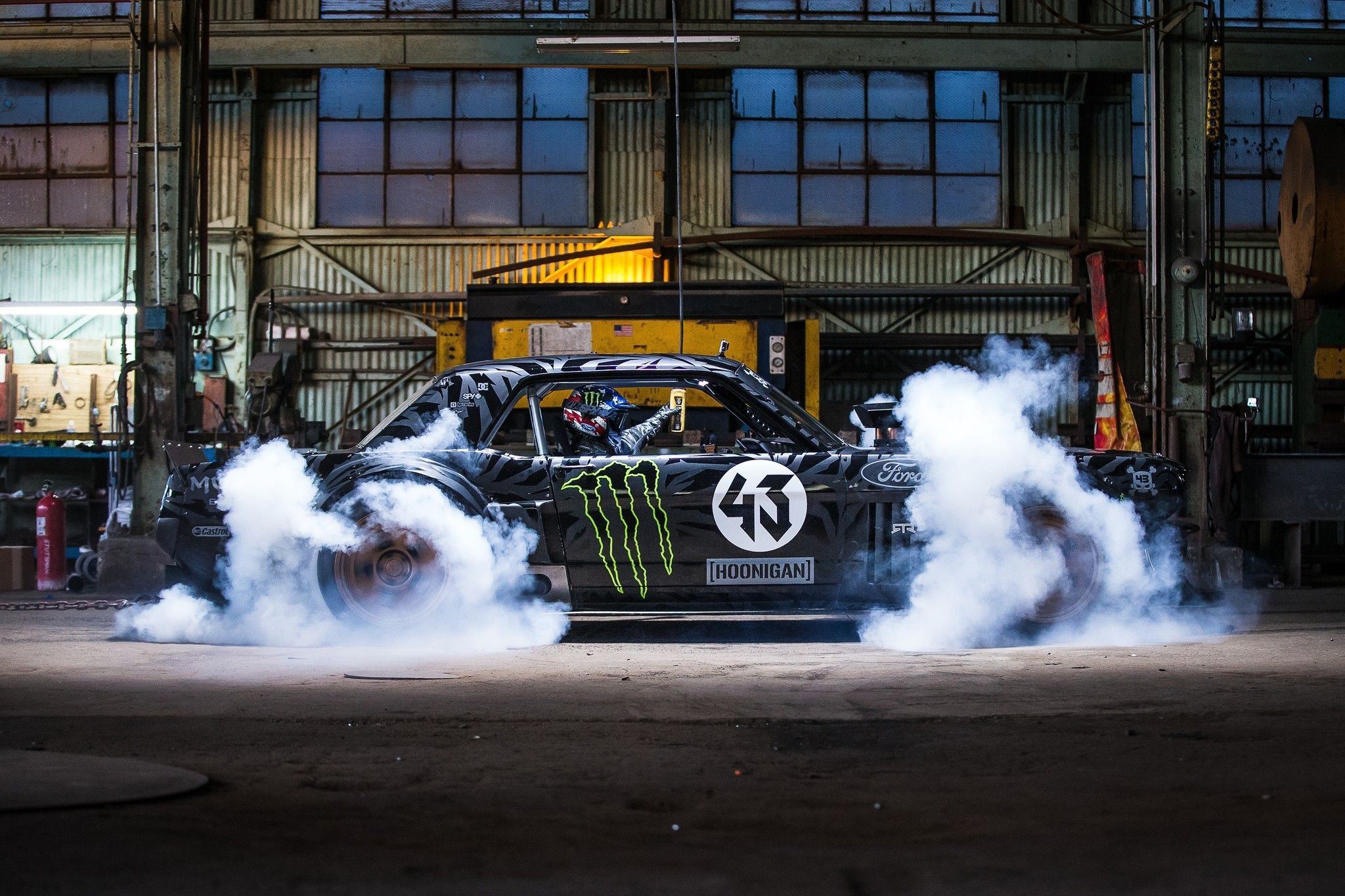 gymkhana 7 ken block tears up los angeles in monster mustang la times. Black Bedroom Furniture Sets. Home Design Ideas