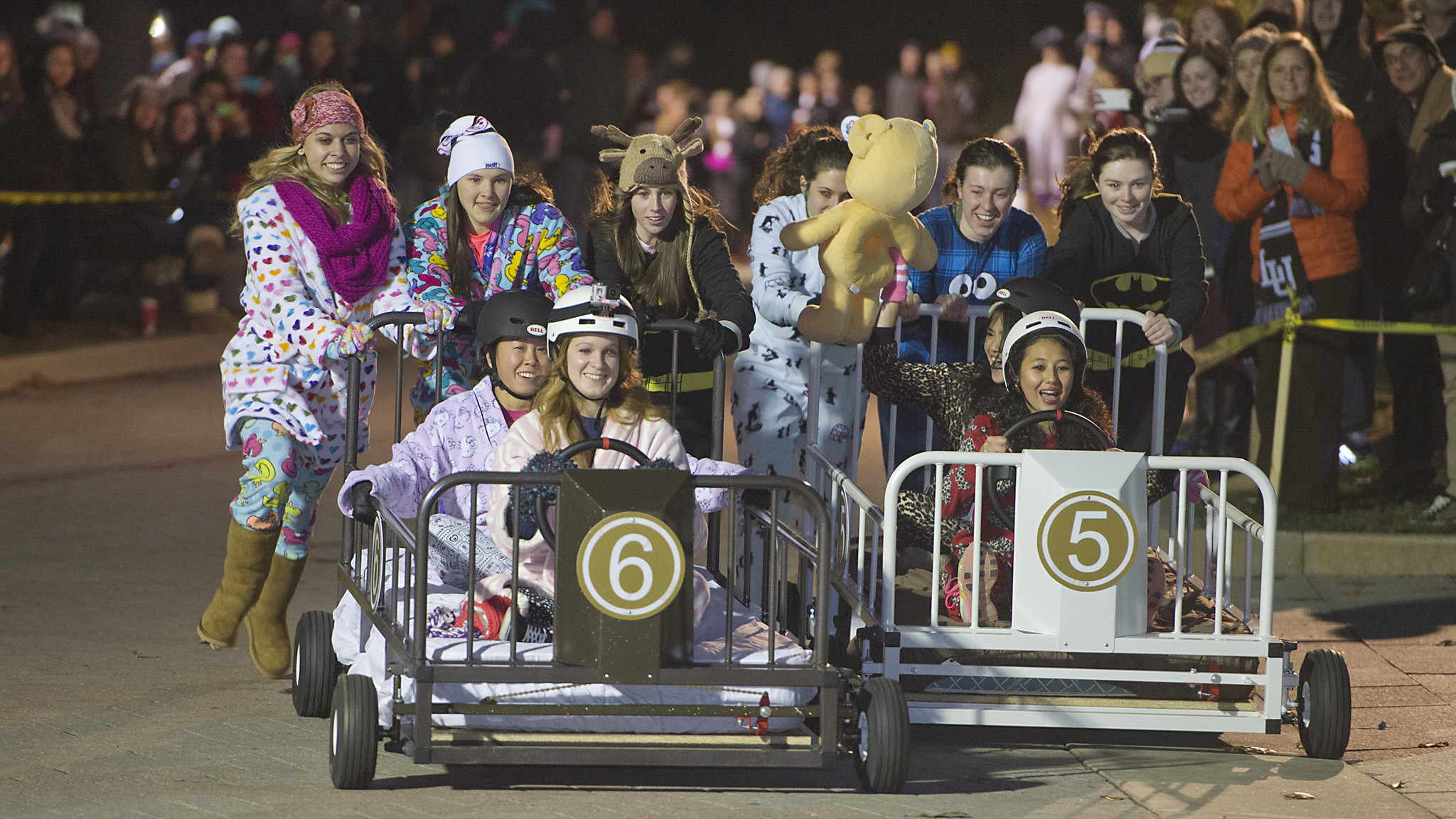 Pictures Lehigh University Students Hold Bed Races As