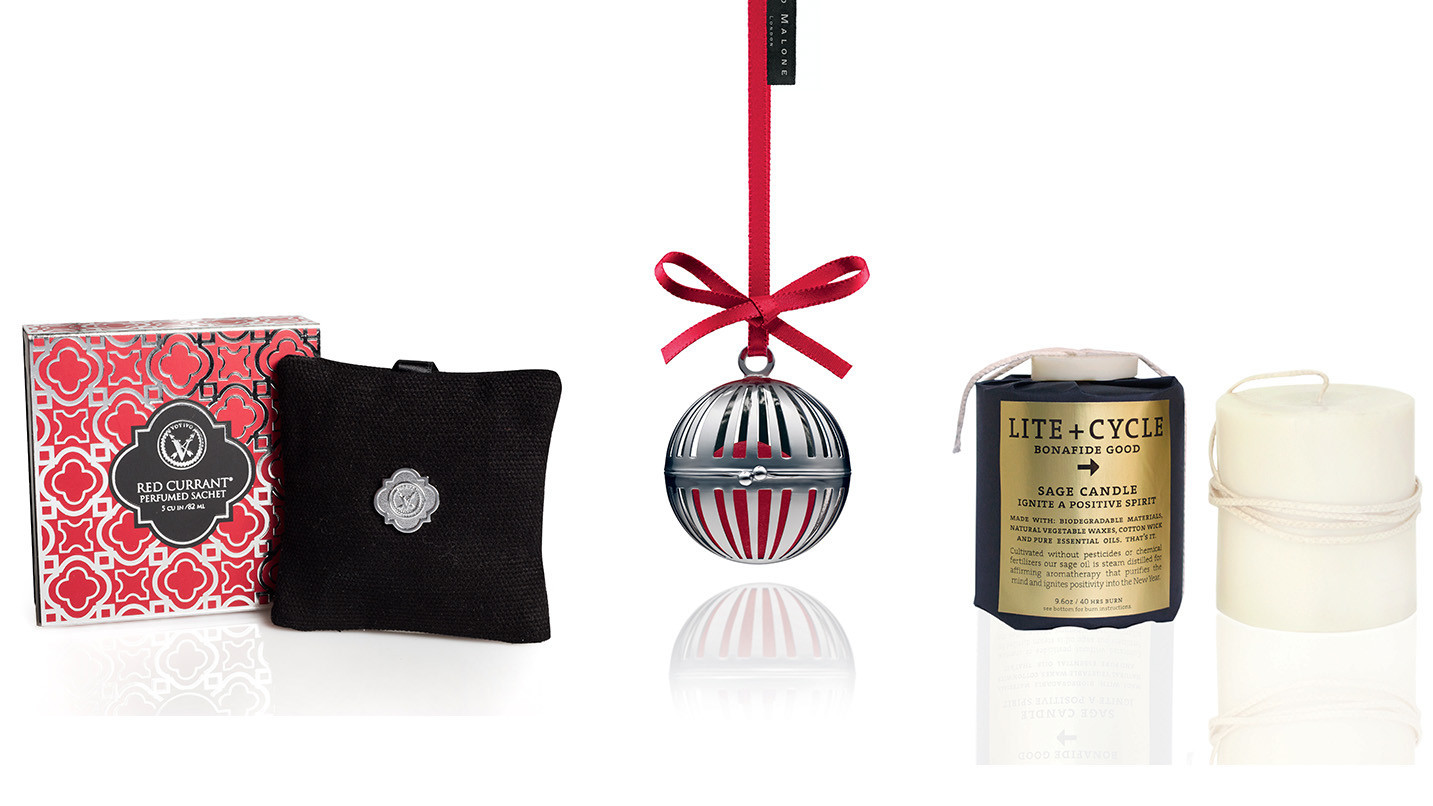 an assortment of ornaments and scents