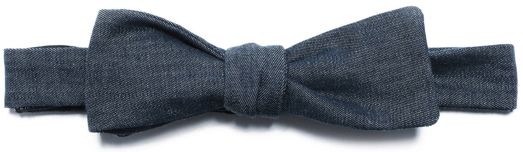 Men In Cities denim bow tie