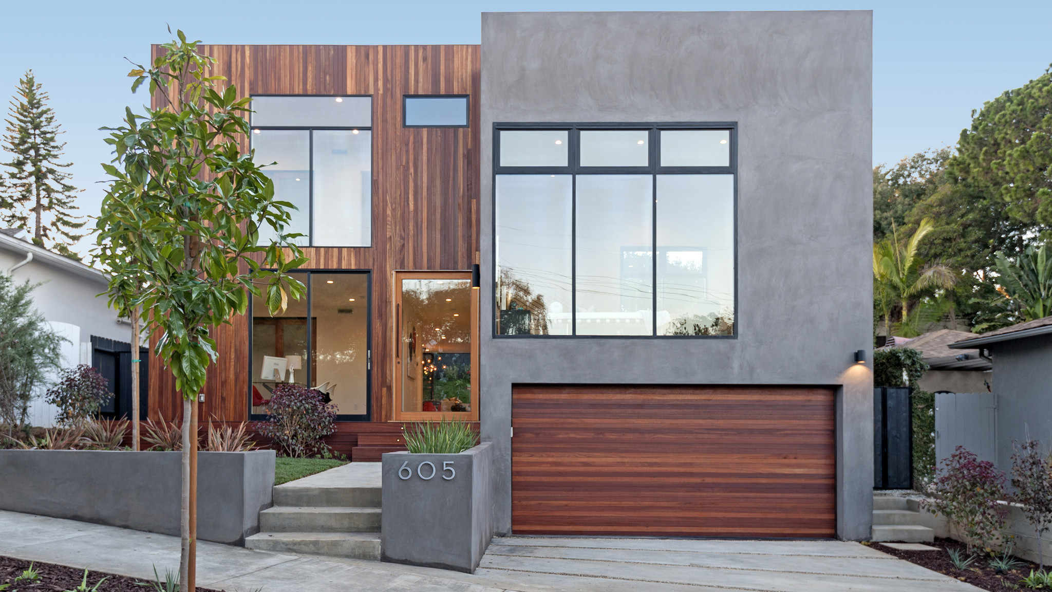 Home Of The Day Wood Wrapped Contemporary In The Bluffs