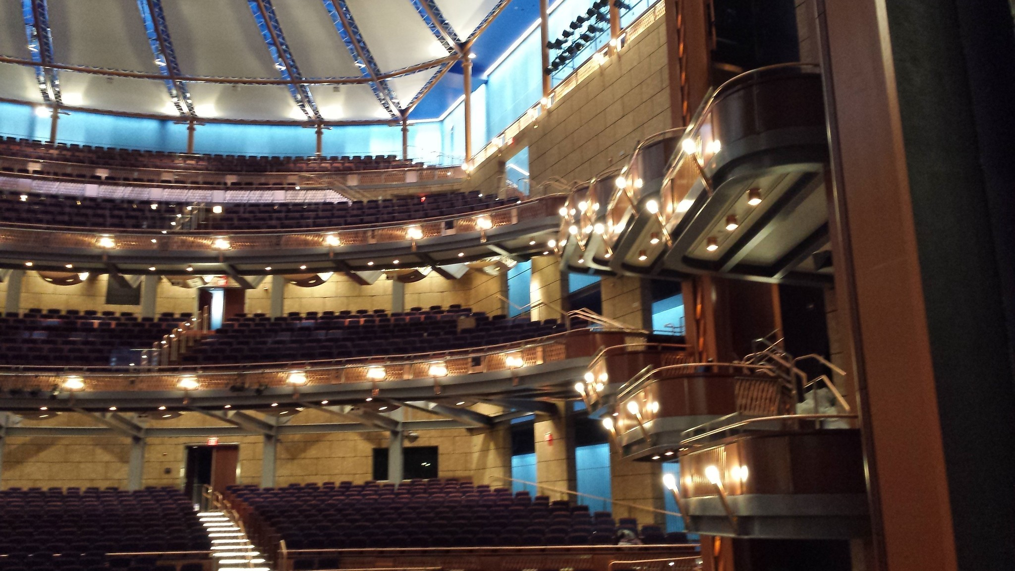Balcony View For 1st Broadway Show In Orlando Arts Center Orlando