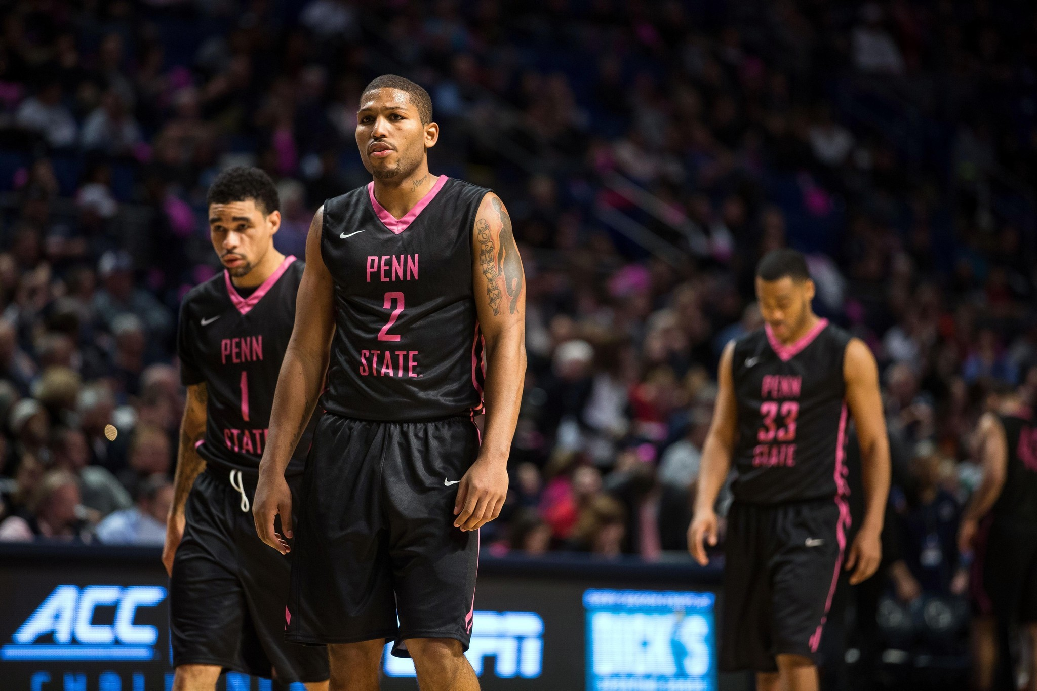 1269088f9 Penn State football coach James Franklin likes pink and black basketball  uniforms. - The Morning Call