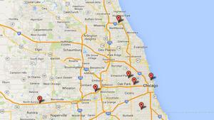 Map: 'Crash-and-grab' burglaries