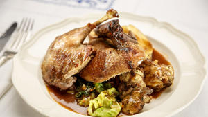 Braised duck or goose