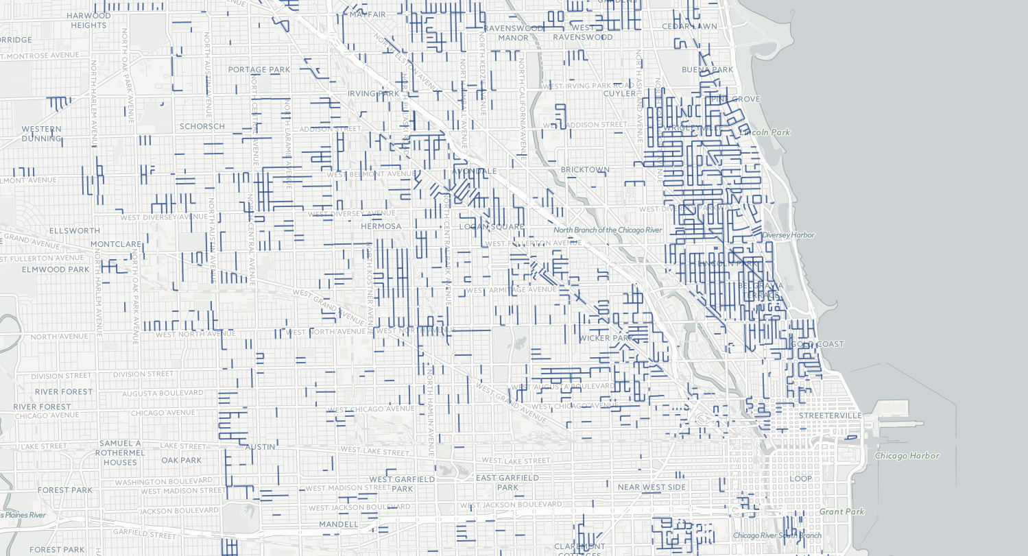 Permit Parking Chicago Map Chicago residential parking zones map   Chicago Tribune Permit Parking Chicago Map