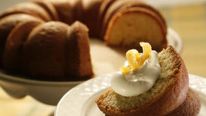 Girasole's orange cake with mascarpone