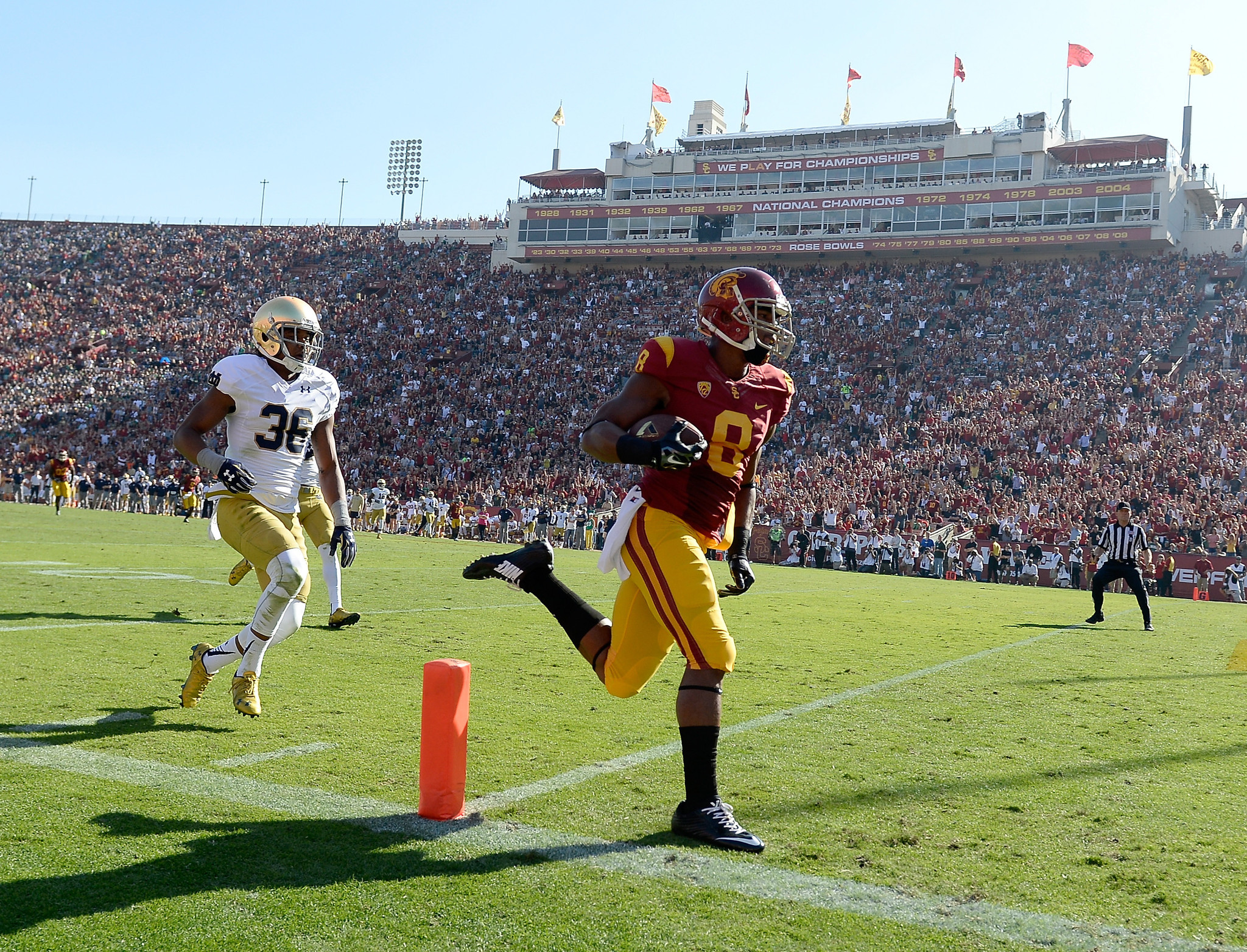 USC players race after Christmas Day practice - Daily Press