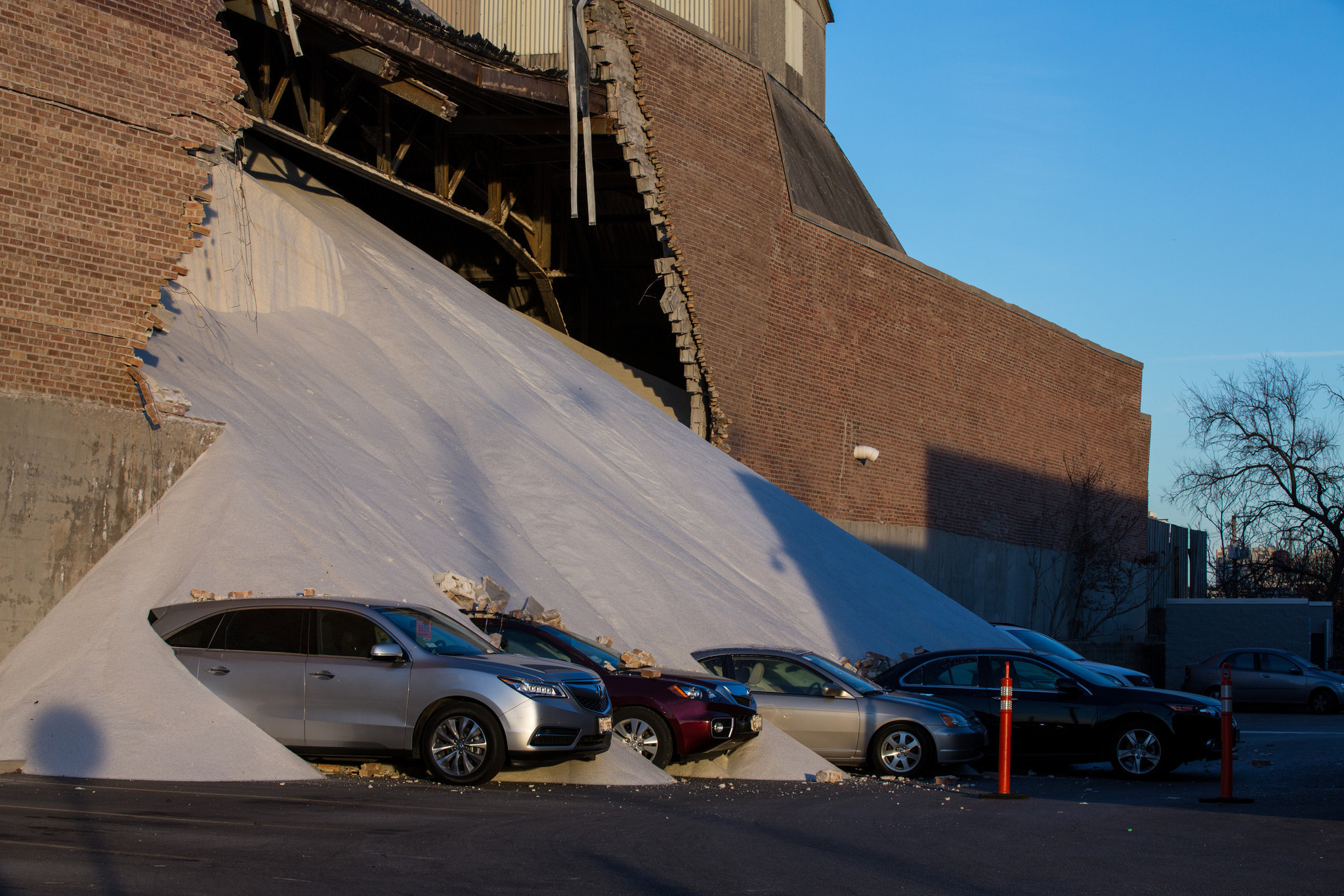 Wall collapses at Morton Salt building in Goose Island ...